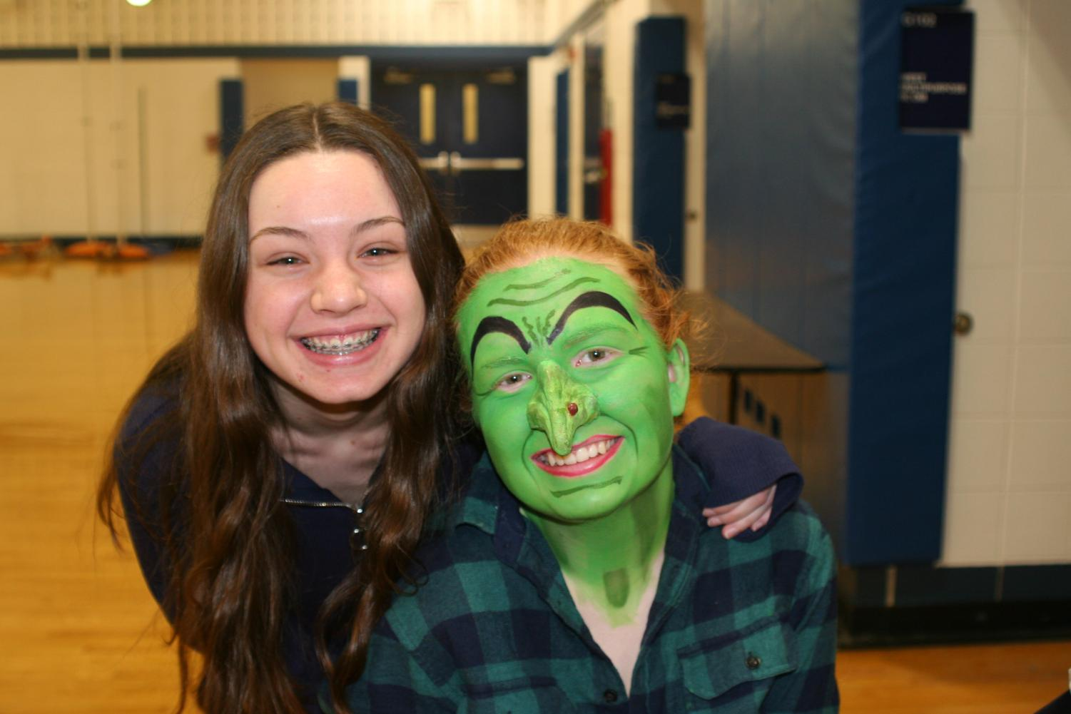 Senior Kiana Resch casts as The Wicked Witch of the West in Wiz Cast.