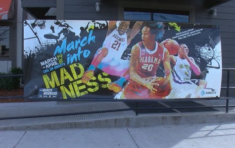 Community advertisement for March Madness left useless.