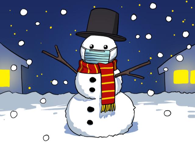 Snowman w_ Mask - Kyung Ah Kim